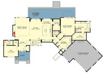 Plan 23627jd Marvelous 4 Bed Modern With Master On Main How To Plan House Plans House Floor Plans