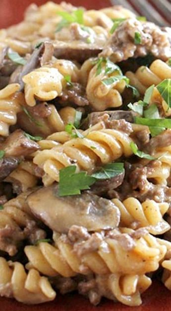 Easy One Pot Ground Beef Stroganoff Taste And Tell Recipe Ground Venison Recipes Deer Meat Recipes Venison Stroganoff
