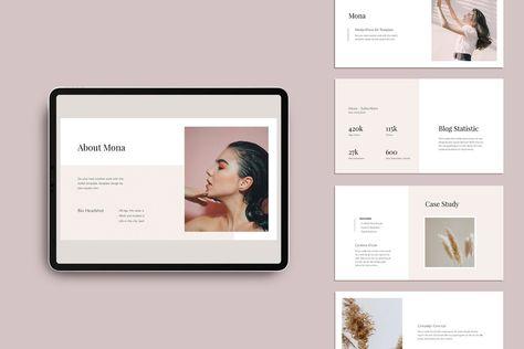 MONA - Media Kit Powerpoint Template