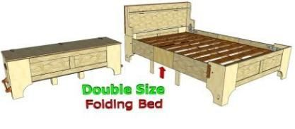 099 Double Size Folding Bed Folding Beds Bed Frame Design Bed Design
