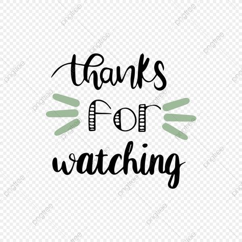 Cartoon Hand Drawn Green Thank You Watch Font Cartoon Hand Painted Thank You Png And Vector With Transparent Background For Free Download How To Draw Hands First Youtube Video Ideas Youtube Banner Design