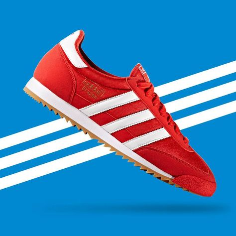 adidas dragon white red blue