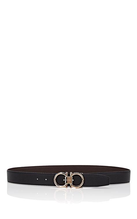 Salvatore Ferragamo Reversible Double Gancini Leather Belt