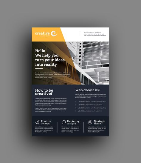 Lisbon Modern Business Corporate Flyer Template - Graphic Templates