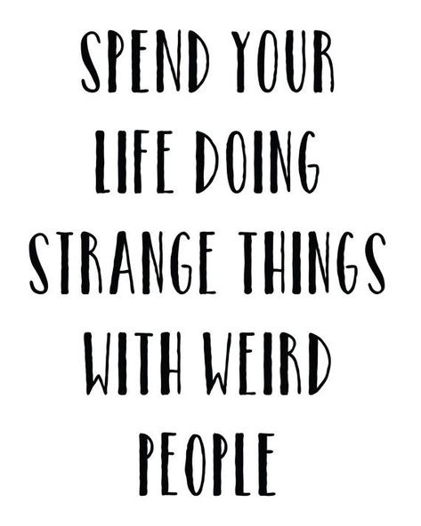 Spend Your Life Doing Strange Things With Weird by MadKittyMedia
