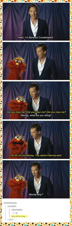 Murray-arty | Benedict Cumberbatch on Sesame Street