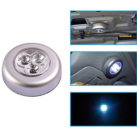 3 Pcs Led Battery Operated Stick On Tap Light Push Touch Lamp Emergency Wall Cabinet Light Touch Lamp Lead Batteries