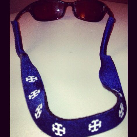 French Cross Croakies by ADesignandSons on Etsy, $10.00- I need these