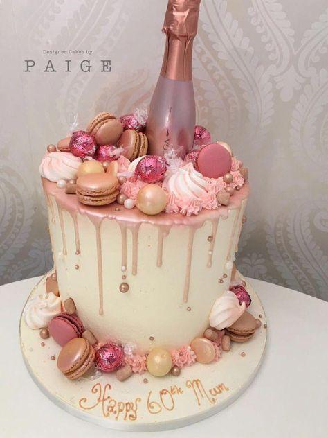 Rose gold drip cake,  #Cake #Drip #dripcake #Gold #Rose #birthdaycake