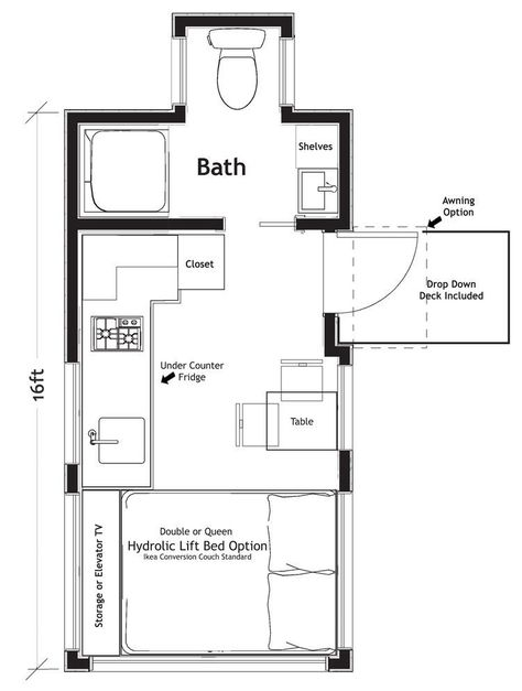 10 Free Floor Plans For Tiny Homes In 2020 Tiny House Listings