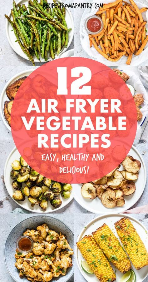 Tired of the same old boring and bland veggies? These 10 Amazing Air Fryer Vegetable Recipes are exactly what you've been looking for! With the air fryer, all it takes is just a few minutes and a tiny bit of oil to serve up totally crave-worthy veggies that are tender in the middle and delightfully crunchy on the outside. #airfryer #airfryerrecipes #healthyairfryerrecipes #airfryervegetables #eatyourveggies #airfried #air-fryer #vegetables