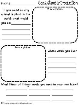 Use this page as part of an introduction to ecosystems.... @Kelsey Cash