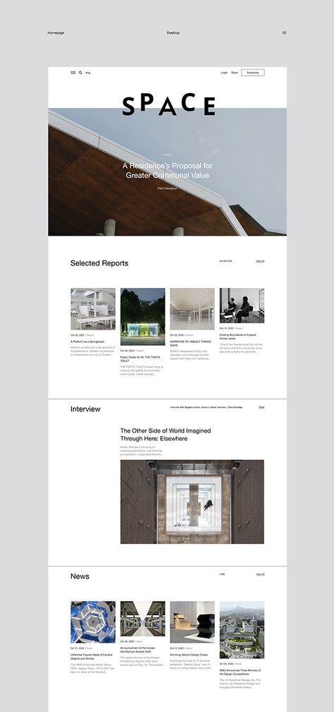 SPACE Magazine Web Design