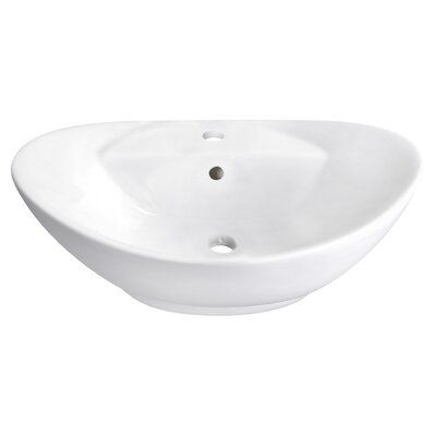 Avanities 23 In W Above Counter White Vessel For 1 Hole Center