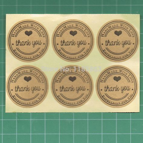 Stationery Craft Paper Sticky Handmade Gift Candy Tags Labels Stickers