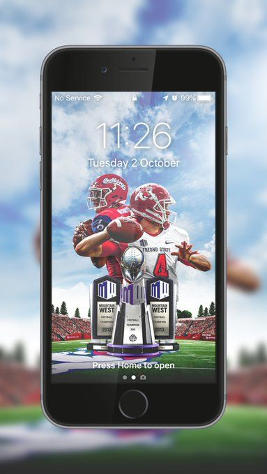 Fresno State Sports Graphics College Athletics Lock Screen Wallpaper