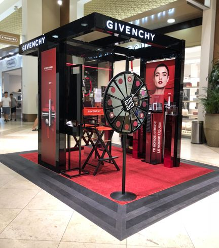 Givenchy Beauty Bloommiami Create Second Interactive Makeup Activation Travel Markets Insider Travel Retail Kiosk Design Booth Design