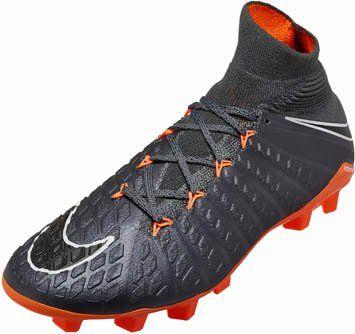 Nike Kids Hypervenom Phantom 3 Elite Df Fg Dark Grey Total Orange Soccerpro Soccer Shoes Football Boots Soccer Cleats