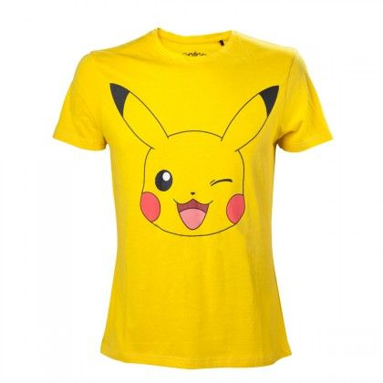 0b62dbf0 Yellow Lovely Pikachu Printed Ladies T-shirt ($10) ❤ liked on Polyvore  featuring tops, t-shirts, yellow, yellow t shirt, yellow to…