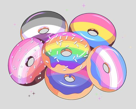 I missed National Doughnut Day but have some colorful doughnuts for #PrideMonth pic.twitter.com/rFucXtVIjr