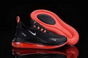Mens Nike Air Max 720 270 Athletic Sneakers Black Orange Nike Air Max 360 Nike Air Max Black Nike Air Max White