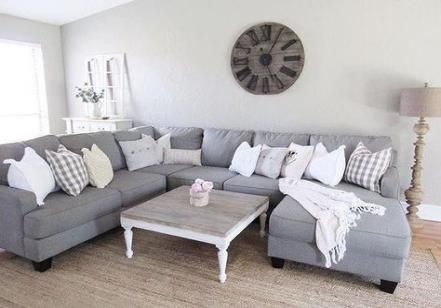 15 Ideas Farmhouse Livingroom Grey Couch Sofas Couches Living
