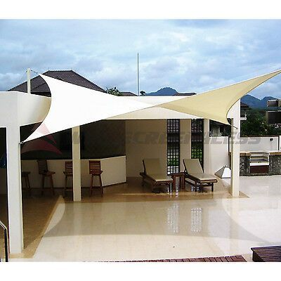 12 16 18 Rectangle Square Triangle Sun Shade Sail Yard Patio Canopy Pool Top Ebay Patio Canopy Pergola Sun Sail Shade