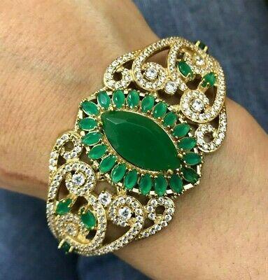 925 Sterling Silver Handmade Authetic Turkish Quartz Bracelet Bangle Cuff