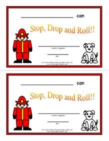 Stop, Drop and Roll Certificate
