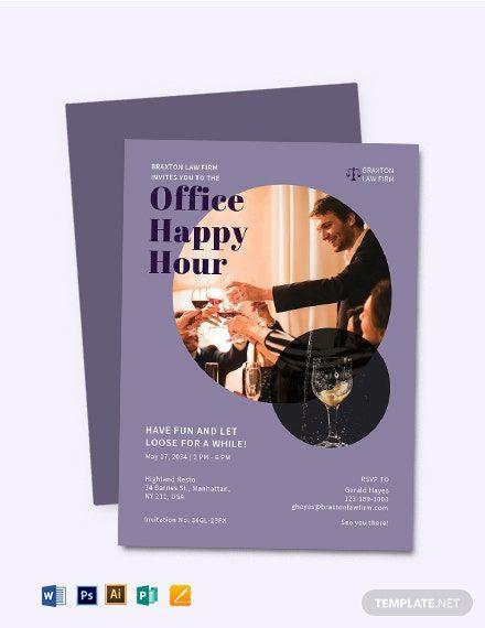 Happy Hour Invitation Sample : happy, invitation, sample, Office, Happy, Invitation, Template, [Free, (DOC), Apple, (MAC), Pages, Illustrator, Publisher, Template,, Printable, Templates,, Shopkins, Invitations
