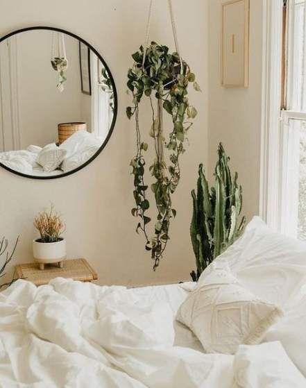 Bedroom Boho White Hanging Plants 29 Ideas For 2019 Plants Bedroom Bedroomplants Bedroom Interior Minimalist Bedroom Bedroom Decor