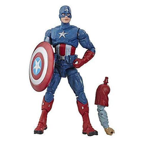 Avengers Marvel Legends Series Endgame 6 Collectible Action Figure Captain America Collection, Includes 1 Accessory - Default