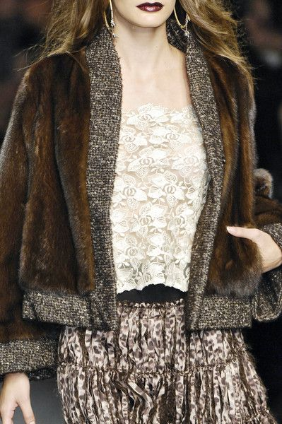 Mariella Burani - Rich brown fur and wonderful textures.
