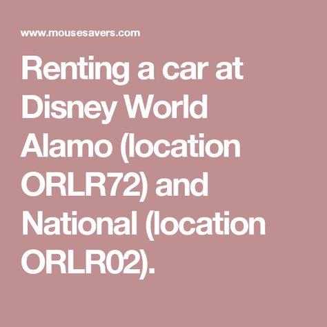 Alamo car rental disney