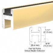 Sqh980bga Crl Brite Gold Anodized Flat Flat Profile Deluxe Shower Door Header Kit 95 Shower Doors Door Header Shower Door Hardware