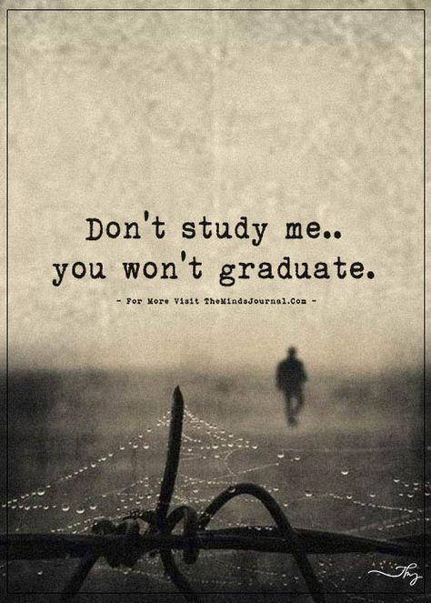 Don't study me