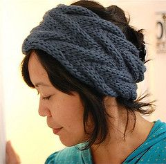 Knit headband-free pattern to download @ Getting Purly With It
