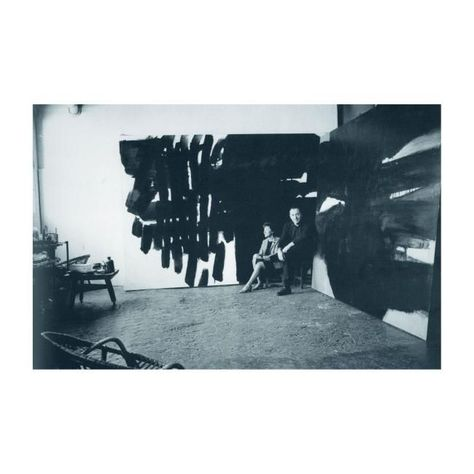 Colette and Pierre Soulages in the studio in the Rue Galande in Paris, 1964