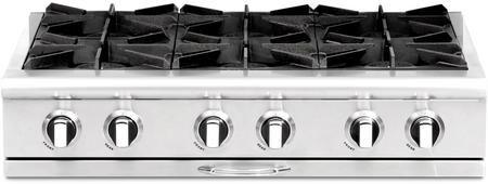 Capital Cgrt366n Culinarian Series 36 Inch Gas Open Burner Rangetop Gas Range Top Stainless Steel Sheet Metal Drip Tray