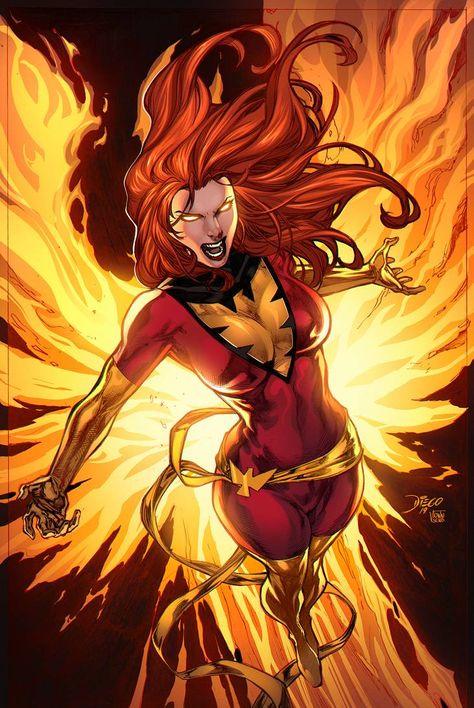 Dark Phoenix by Diego Bernard Jean Grey Phoenix, Dark Phoenix, Marvel Comics Art, Marvel X, Captain Marvel, Marvel Women, Marvel Girls, Comic Books Art, Comic Art