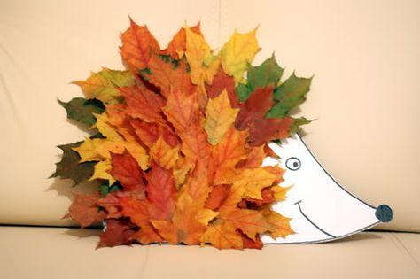 Ежик из листьев поделка