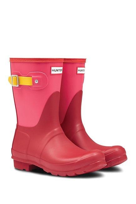 Hunter Original Short Colorblock Waterproof Rain Boot Rain
