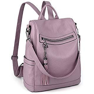 VASCHY Fashion Faux Leather Anti-theft for Ladies... Women Backpack Purse
