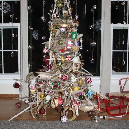 Gift winterdeko Nature Tree Pendant Cottage Felt pounding Christmas Deco