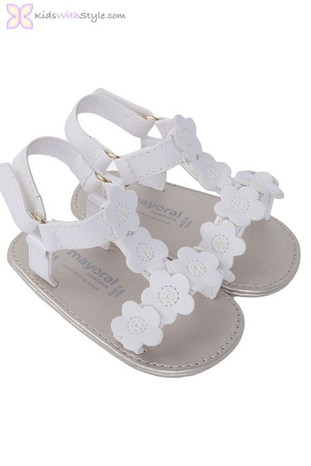 Baby Girl Floral White Sandals www