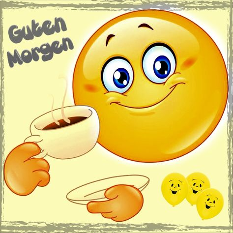 Guten Morgen Freunde Smiley Emoji Emoji Symbole Und Emoticon