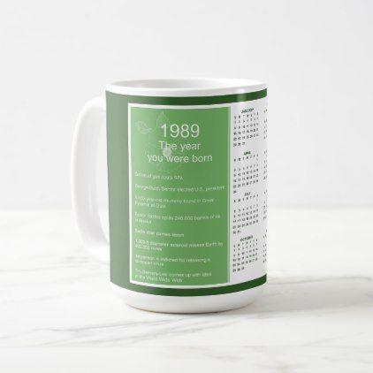 Birthday 1989 Calendar Gift Coffee Mug Zazzle Com Mugs Coffee