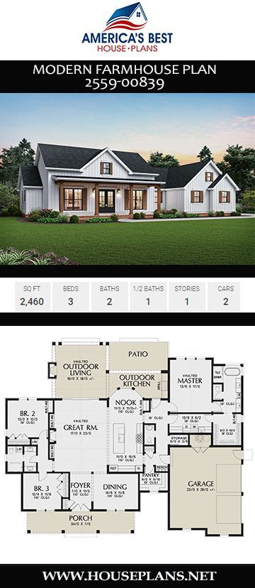 House Plan 2559 00839 Modern Farmhouse Plan 2 460 Square Feet 3 Bedrooms 2 5 Bathrooms Modern Farmhouse Plans Farmhouse Plans Farmhouse Floor Plans