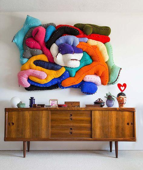 Marvelous Home Design Architectural Drawing Ideas. Spectacular Home Design Architectural Drawing Ideas. Textile Sculpture, Soft Sculpture, Textile Art, Instalation Art, Decor Scandinavian, Textiles, Crochet Art, Decoration Design, Decorating Small Spaces