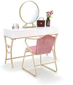 Chenyanawesom Dressing Tables Dressing Table Iron Paint Girl Makeup Table And Chair Bedroom Vanity Mirror D Bedroom Chair Bedroom Vanity Bedroom Dressing Table